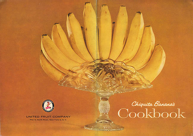 """Chiquita Banana's Cookbook, 1947,"" by alsis35 (now at ipernity), licensed by CC BY 4.0/cropped from original, https://www.flickr.com/photos/alsis35/5406946660/"